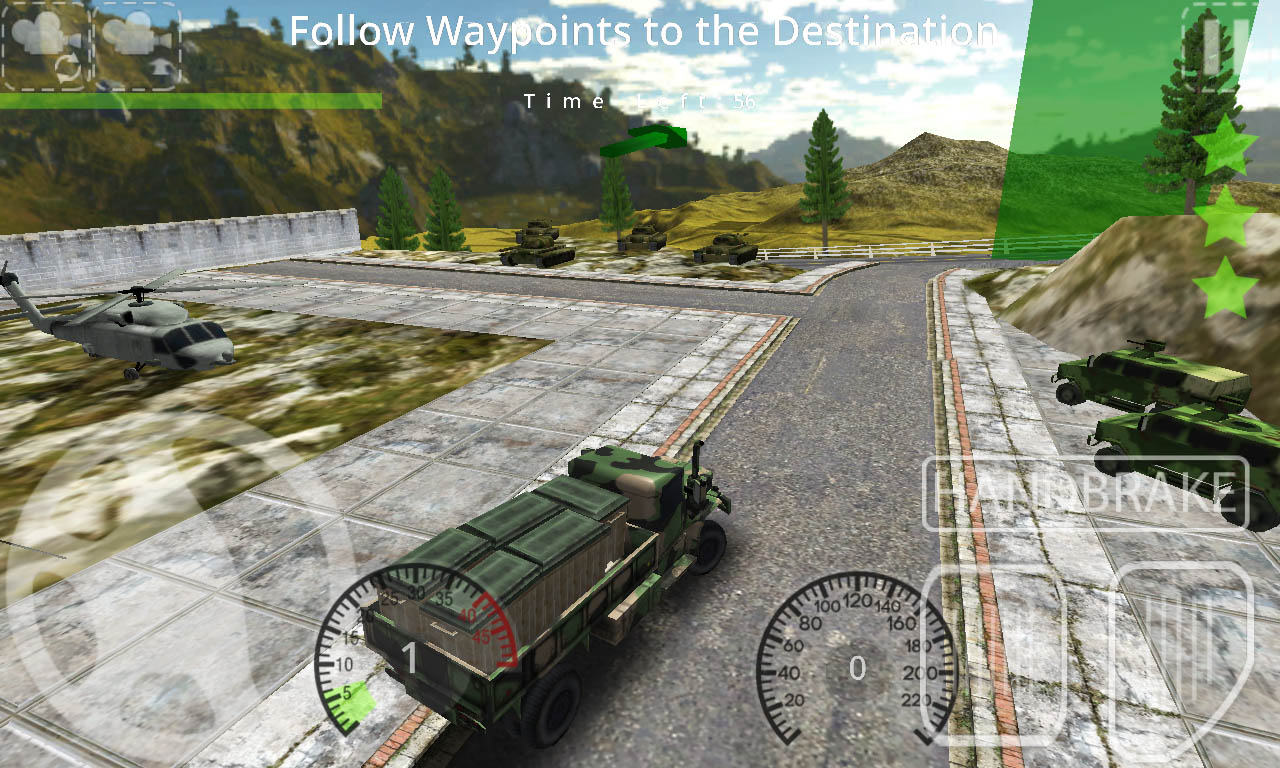 Delivery Simulator Army Truck