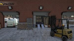 Delivery Simulator Forklift Trailer Truck