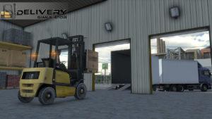 Delivery Simulator Forklift load BDF Tandem