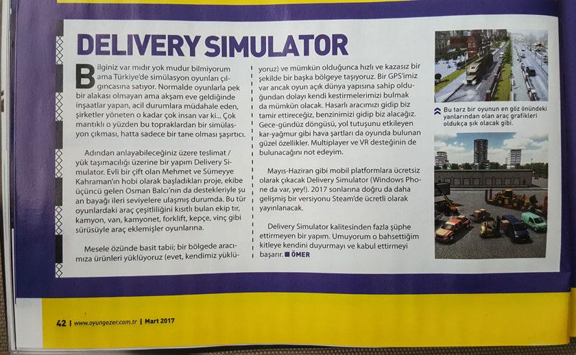Oyungezer indie delivery simulator turk yerli